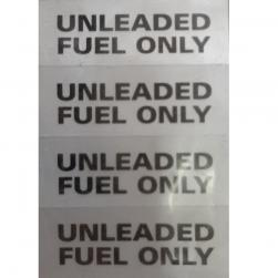 STICKER UNLEADED FUEL ONLY (4/SHT)