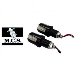 INDICATOR BAR END ALL ZONE BLK LED - PAIR